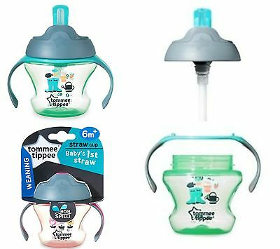 Tommee Tippee 6M+ Baby's 1st Straw Weaning Feeding Cup Toddler Unisex 150ml