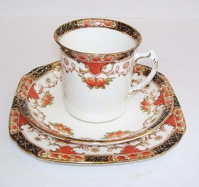 Antique Sutherland Imari Hand Painted Cup Saucer Plate Trio.