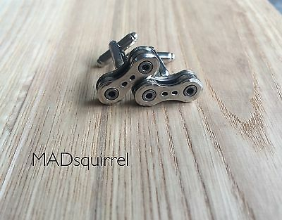 Campagnolo Bicycle, Bike Chain Cufflinks using Campagnolo Record CR Chain Links