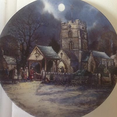 """Wedgwood Plate The Village By The Moonlight """"evensong"""""""