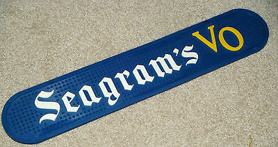 Seagram's VO Whiskey Wiskey Coin Mat Rubber Sign Bar Man Cave Vintage Booze Shot