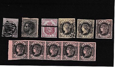 Early Spain Mostly Isabella Including Strip Of 5 U.m.m. Cat.£200.00 Plus.