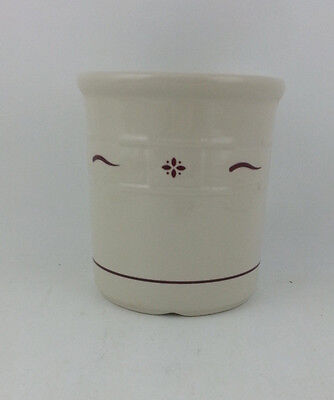 Longaberger Pottery 2 Quart Crock Traditional Red USA