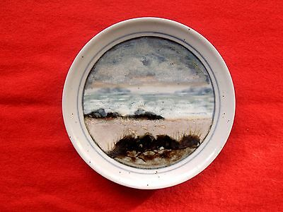 Highland Stoneware Plate Stunning Hand Painted Landscape Flawless