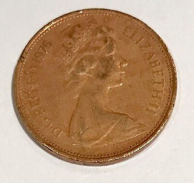 1976 new pence 2p coin, very rare for collections