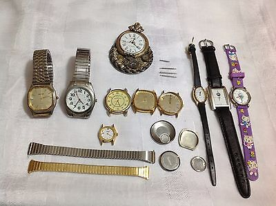 Vintage Assorted Mixed Wrist Watch Parts