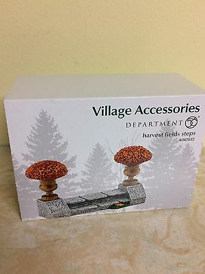 NEW 2 Dept 56 2015 Harvest Fields Steps Fall Autumn #4047612 Village Accessories