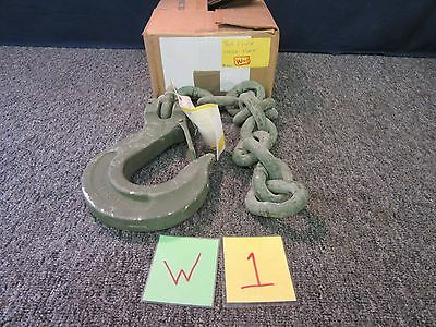 Peck Hale 5/8 Clevis Hoist Hook Grade 8 Chain Construction 18207 Military Used