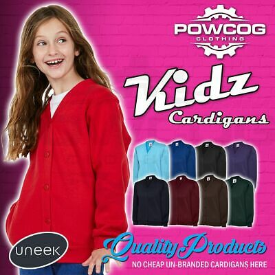 UNEEK Children's Girls Fleece Sweatshirt Cardigans School Uniform Age 2-13 UC207
