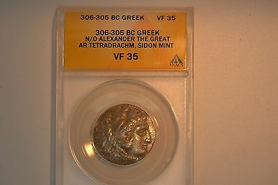 Ancient Greece: 306-305 BC Alexander The Great Tetradrachm- ANACS VF-35.