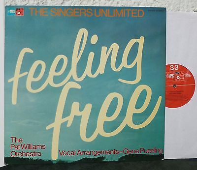 MPS  THE SINGERS UNLIMITED  Feeling Free   Lp 1975  Pat Williams Orchestra