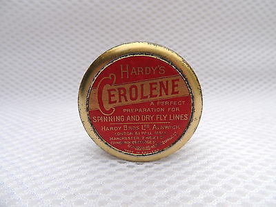 Vintage Hardy Tin Of Cerolene Spinning & Dry Fly Fishing Line Dressing.