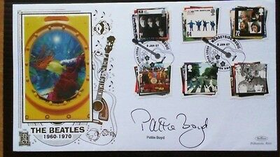 2007 Beatles Fdc, Benham Gold 346 Signed Pattie Boyd