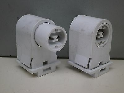 Pair of Recessed Double Contact HO R17d Fluorescent Lampholder Lamp Light Socket