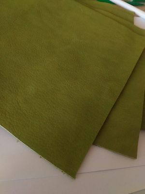 20 x 30 cm. Green Full-grain cowhide Genuine Leather  thickness 1,7 mm. No. L57