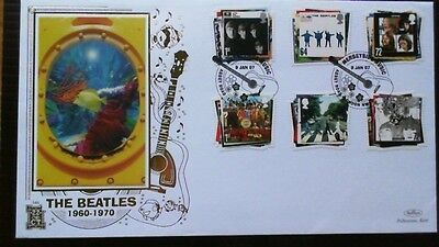 "2007 Beatles Fdc, Benham Gold 346 Cancelled ""merseyside Music Abbey Road"""