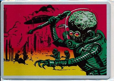 Mars Attacks Occupation Metal Card #mm-R Retailer Card