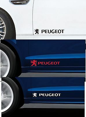 FOR PEUGEOT - For Doors Panels x 2 - CAR DECAL STICKER ADHESIVE  - 300mm long