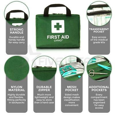 Livivo First Aid Kit Bag 90 Piece Medical Emergency Workplace Travel Home Car