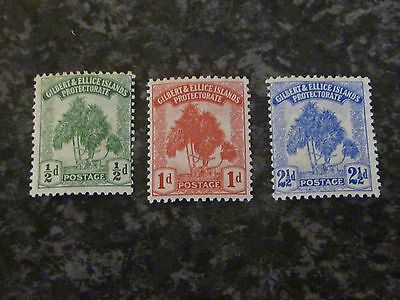 Gilbert & Ellice Islands Protectorate Postage Stamps Sg1,2,4 Lmm