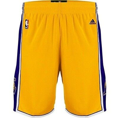 Mens Adidas NBA Los Angeles Lakers Swingman Basketball Shorts in Gold L