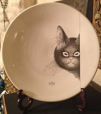 Rare Albert Dubout EDITIONS CLOUET FRANCE Cat Mouse Mice Eyes Collector Plate