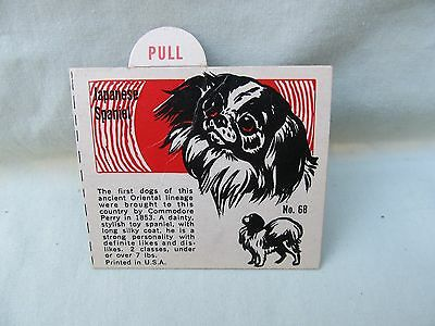 1950's Japanese Spaniel Trade Card / Premium Back of Box or Insertion / No. 68