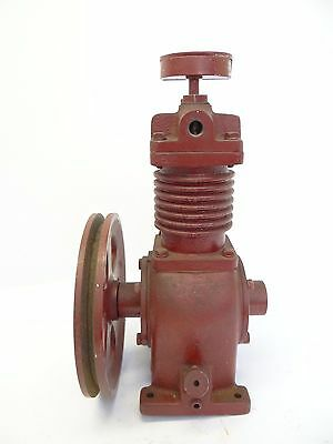 Vintage Used Old Metal Cast Iron Red Unbranded C162-2 Small Compressor