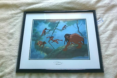 Walt Disney Limited Edition Sericel Tarzan Surfing On A Vine Signed