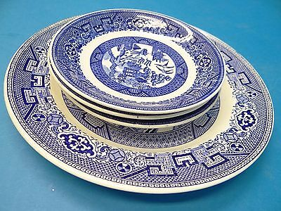 Antique Blue Willow Pattern Homer Laughlin L41N6 F52N6 M48M6 C50M6 Saucers Plate