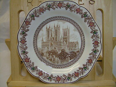 LNER Cathedral Dessert Plate Lincoln Cathedral by Wedgwood 1930s