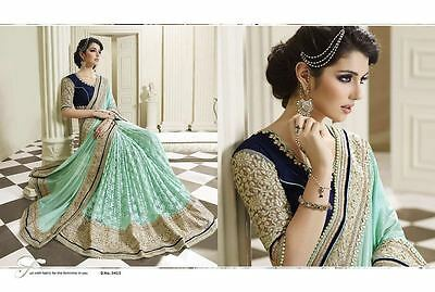 Indian Ethnic Women Designer Saree Wedding Georgette Party Wear Bollywood Sari