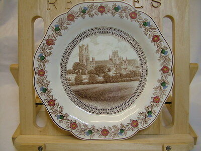 LNER Cathedral Dessert Plate Ely Cathedral by Wedgwood 1930s