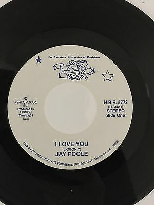 Jay Poole, I Love You, Rare 1St Label Modern/crossover  Soul 45