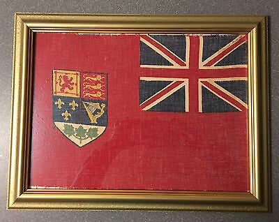Beautiful framed CANADIAN red ensign