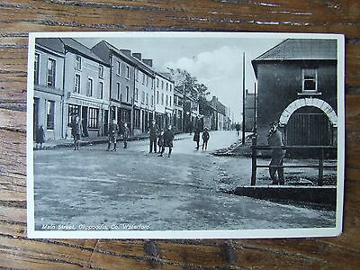 Old Irish Waterford Postcard Cappoquin Main Street