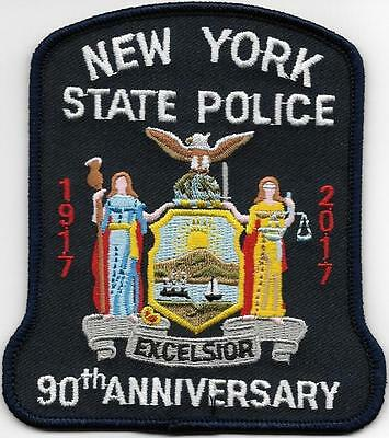 New York State Police Nysp 90Th Anniversary 2017 100 Years Nys 1917 Ny Sp Patch