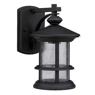 Wall Mounted Exterior Outdoor Black Single Lamp Light Fixture House Patio Porch