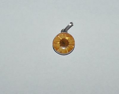 Artisan Sterling Silver And Real Dry Flower Pendant