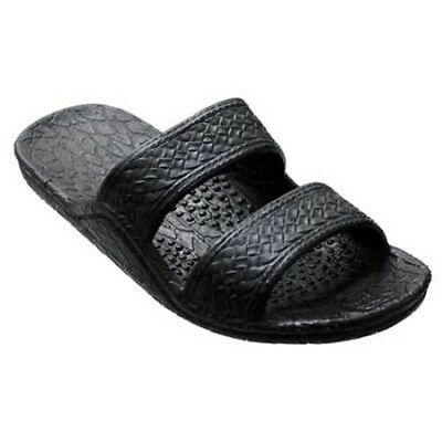 Pali Hawaii Unisex Hawaiian Jesus Jandal Black Slip On Slide Waterproof Sandals