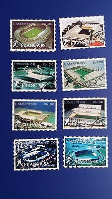 Sao Tome and Principe 1997, World Cup Football France. Mint. CTO. Stock Clearout