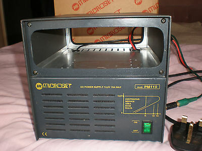 Microset Mod. PM 110A Stabilized Power Supply with extras