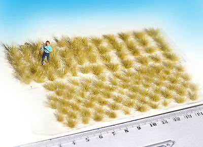 120 pcs Static grass tufts, dry green blend, mixed sizes, for HO / O scale model
