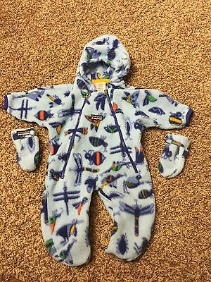 Super Warm Fleece Baby Patagonia One Piece Suite With Gloves