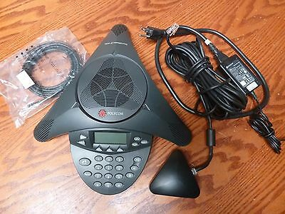 Polycom SoundStation IP 4000 IP4000 VoIP Conference Phone 2201-06642-601 Working