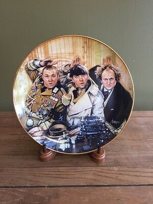 Three Stooges Porcelain Collector Plate Franklin Mint 1994 Limited Edition