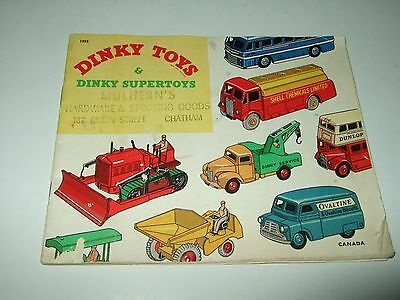 Dinky toys & Dinky Supertoys catalogue Mulhern's Hardware Chatham Ontario 1955