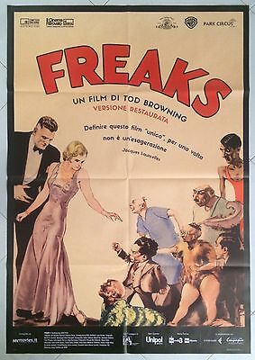 Original Italian Poster 2Sh Freaks Browning Theatrical Folded Very Very Good