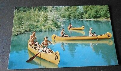 Vintage Postcard Canoeing on Russian River California