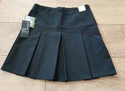 Next Girls Black School Skirt Age 10 Years Brand New With Tags